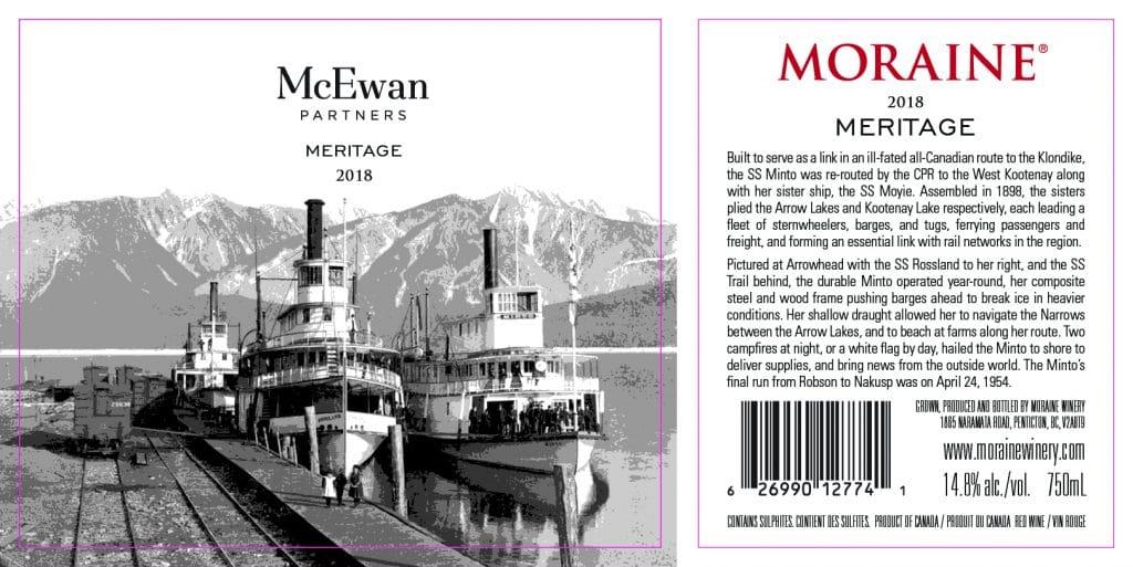 Moraine Winery meritage